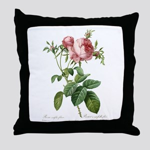 Lovely vintage pink rose Throw Pillow