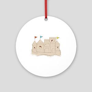 Sandcastle Ornament (Round)