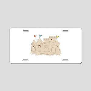 Sandcastle Aluminum License Plate