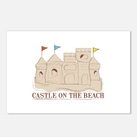 Castle On The Beach Postcards (Package of 8)