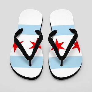 Flag of Chicago Flip Flops