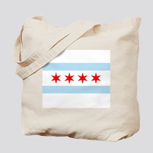 Flag of Chicago Tote Bag