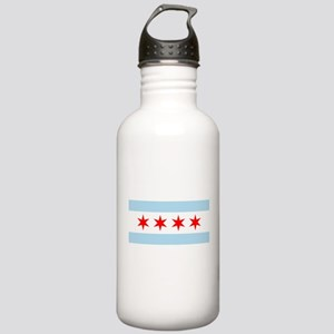 Flag of Chicago Water Bottle