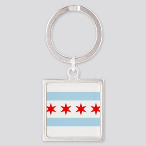 Flag of Chicago Keychains