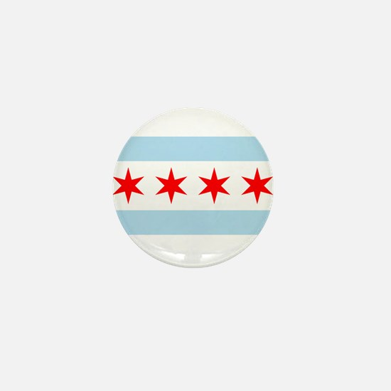 Flag of Chicago Mini Button