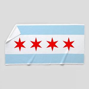 Flag of Chicago Beach Towel