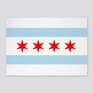 Flag of Chicago 5'x7'Area Rug