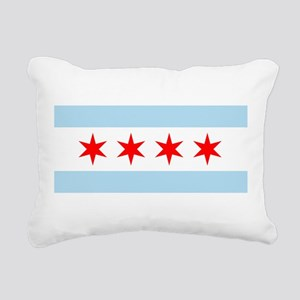 Flag of Chicago Rectangular Canvas Pillow