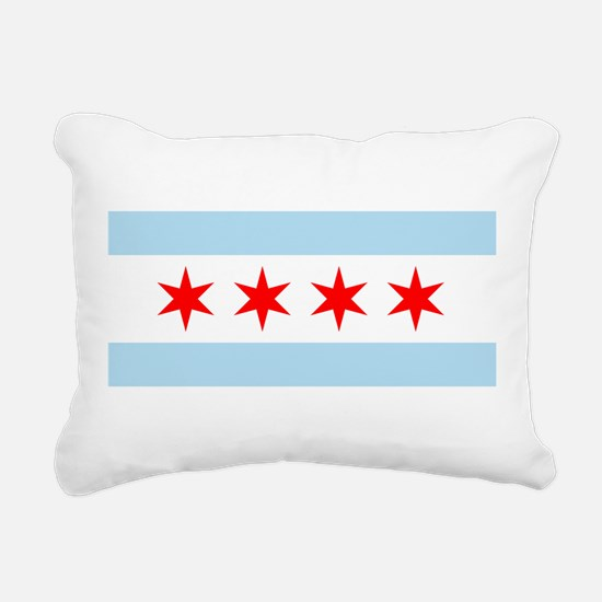 Flag of Chicago Rectangular Canvas Pillow