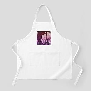 purple floral paris eiffel tower art Apron