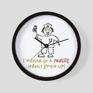 When I Grow Up Nurse Wall Clock