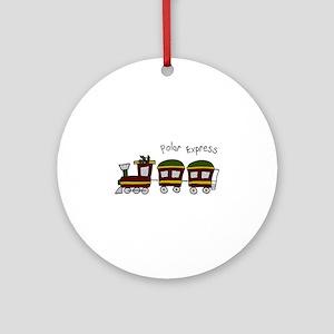 Polar Express Ornament (Round)