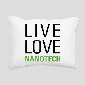Live Love Nanotech Rectangular Canvas Pillow