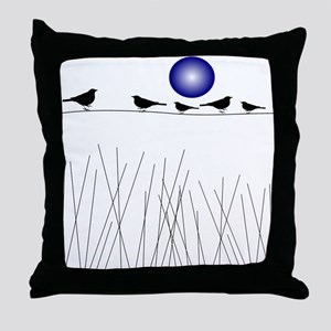 Birds On a Wire B Throw Pillow