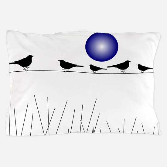 Birds On a Wire B Pillow Case