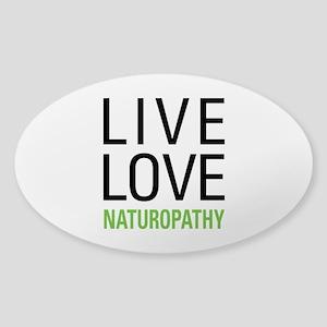 Live Love Naturopathy Sticker (Oval)