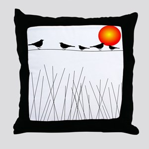 Birds On a Wire A Throw Pillow