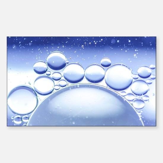 Blue Bubbles Macro Sticker (Rectangle)
