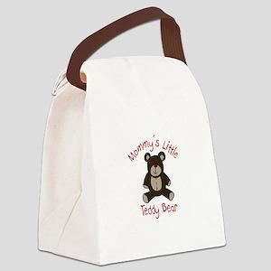 Mommys Teddy Bear Canvas Lunch Bag
