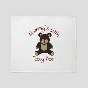 Mommys Teddy Bear Throw Blanket