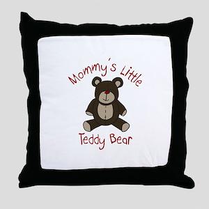 Mommys Teddy Bear Throw Pillow