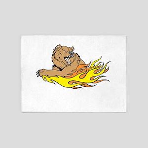 Fire Bear 5'x7'Area Rug