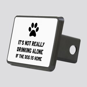 Drinking Alone Dog Hitch Cover