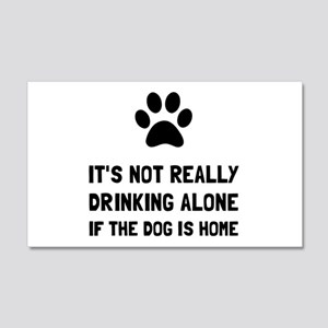 Drinking Alone Dog Wall Decal