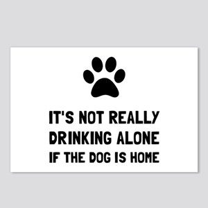 Drinking Alone Dog Postcards (Package of 8)
