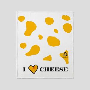 I Love Cheese Throw Blanket