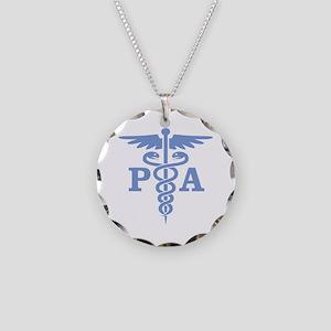 Caduceus PA (blue) Necklace