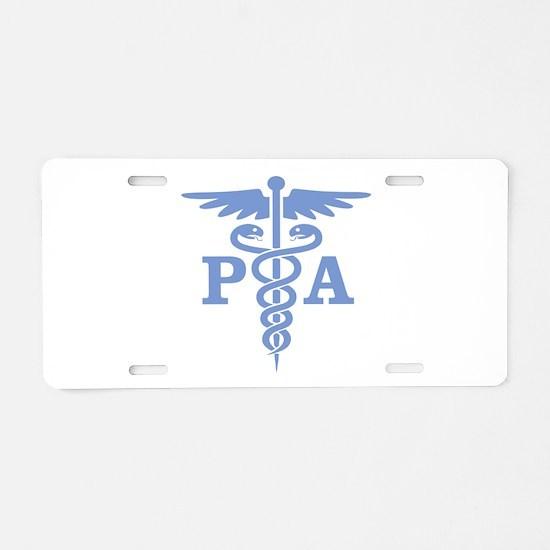 Caduceus PA (blue) Aluminum License Plate