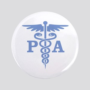 "Caduceus PA (blue) 3.5"" Button"