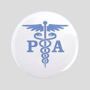 """Caduceus PA (blue) 3.5"""" Button"""