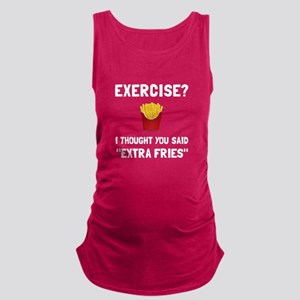 Exercise Extra Fries Maternity Tank Top