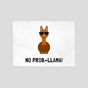 No Prob Llama 5'x7'Area Rug