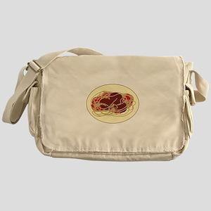 Spaghetti Meatballs Messenger Bag