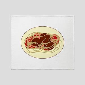 Spaghetti Meatballs Throw Blanket