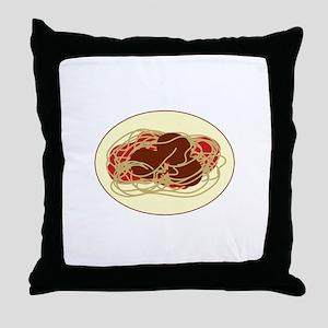 Spaghetti Meatballs Throw Pillow
