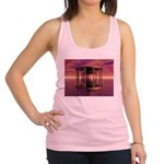 Metal Cage Floating In Water Racerback Tank Top