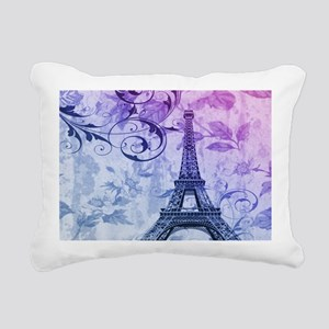 purple floral paris eiffel tower art Rectangular C
