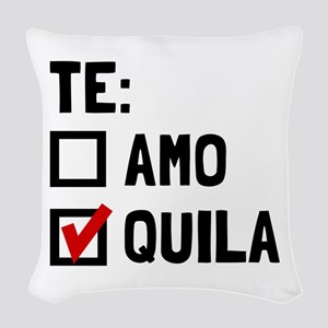 Te Quila Woven Throw Pillow