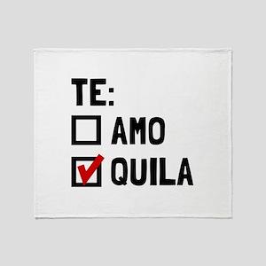 Te Quila Throw Blanket