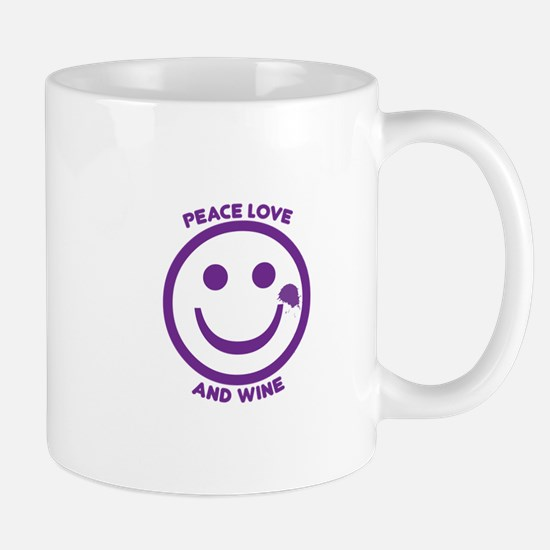 Peace Love And Wine Mugs
