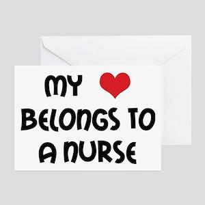 I Heart Nurses Greeting Cards (Pk of 10)