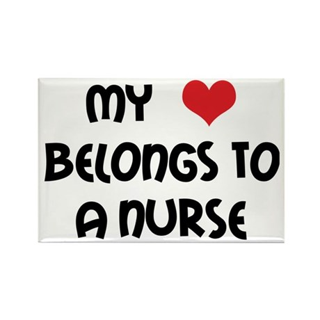 I Heart Nurses Rectangle Magnet
