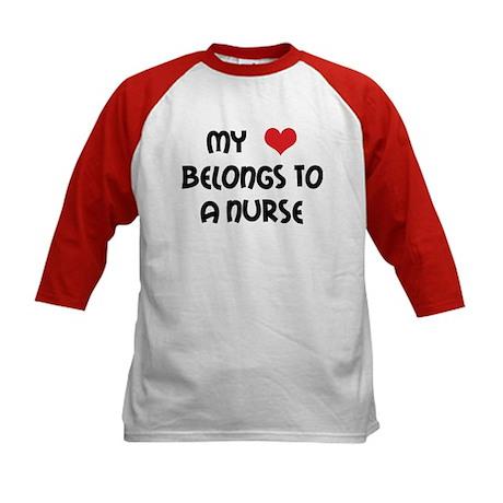 I Heart Nurses Kids Baseball Jersey