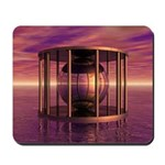Metal Cage Floating In Water Mousepad