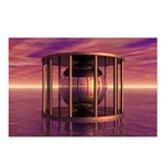Metal Cage Floating In Water Postcards (Package of