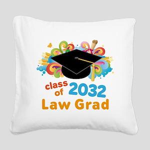 2032 Law School Grad Class Square Canvas Pillow
